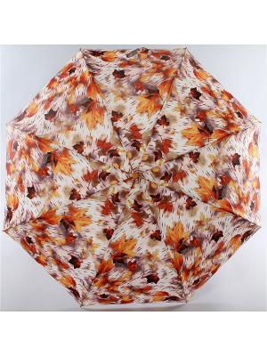 Зонт Trust. Цвет: светло-серый, рыжий, терракотовый