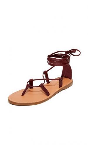 Гладиаторские сандалии Boardwalk на шнуровке Madewell. Цвет: красный