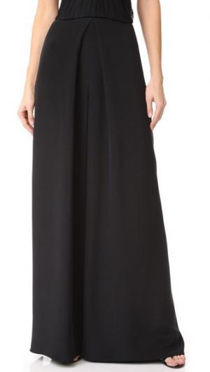 Сильно расклешенные брюки Monique Lhuillier. Цвет: голубой