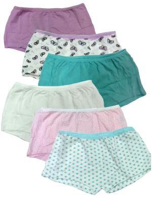 Трусы для девочек, 6 шт. Oztas kids' underwear. Цвет: белый, розовый