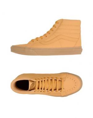 Высокие кеды и кроссовки VANS. Цвет: песочный
