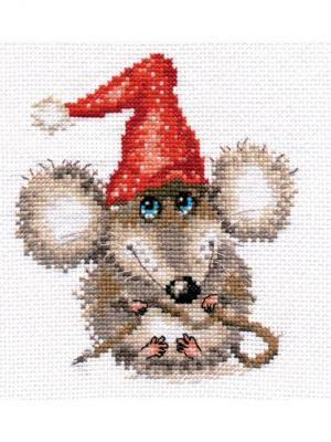 Набор для вышивания Очаровашка  12х14 см Алиса. Цвет: красный,серый,светло-серый