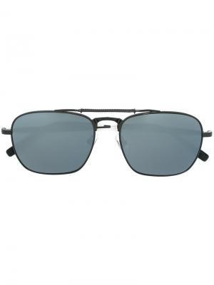 Солнцезащитные очки-авиаторы Matsuda. Цвет: чёрный