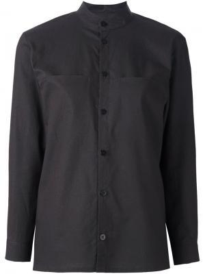 Рубашка с воротником-стойкой Toogood. Цвет: коричневый