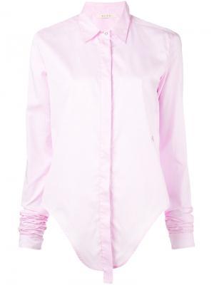 Рубашка с удлиненными рукавами Alix. Цвет: розовый и фиолетовый