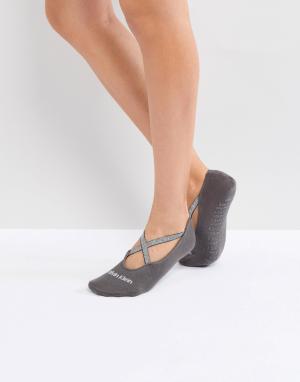 Calvin Klein Невидимые носки. Цвет: серый
