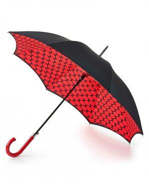 Зонт-трость автомат Губы  by Fulton Lulu Guinness. Цвет: multicolor