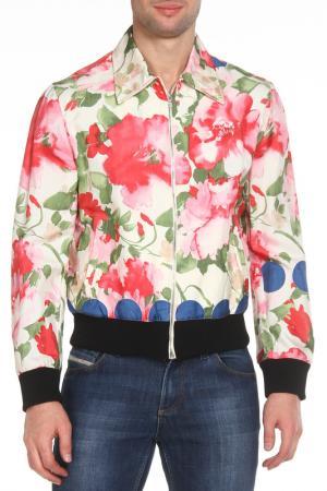 Куртка с отложным воротником John Richmond. Цвет: 1235, молочный, красный