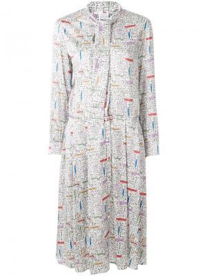 Платье-рубашка с мелким принтом Ultràchic. Цвет: многоцветный