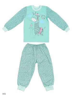 Пижамы KIDONLY. Цвет: светло-зеленый