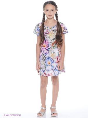 Платье Comusl. Цвет: сиреневый, белый