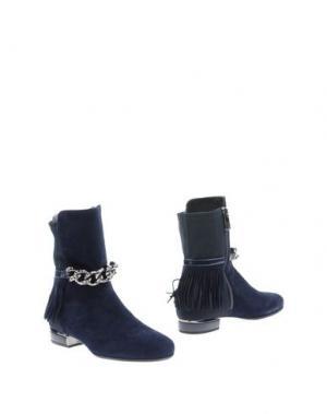 Полусапоги и высокие ботинки LORIBLU. Цвет: темно-синий