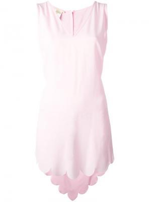 Туника с волнистым подолом Antonio Berardi. Цвет: розовый и фиолетовый