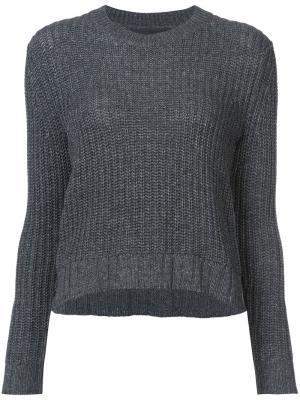 Вязаный свитер Jenni Kayne. Цвет: серый