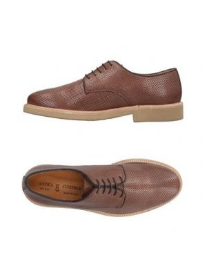 Обувь на шнурках ANTICA CUOIERIA. Цвет: какао