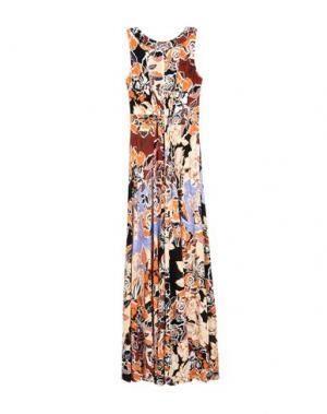 Длинное платье JUST CAVALLI. Цвет: песочный