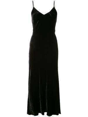 Maxi velvet dress Marissa Webb. Цвет: чёрный