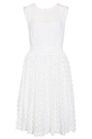 Платье из шифона Apart. Цвет: кремовый