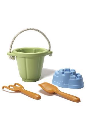 Набор для песочницы зеленый Green Toys. Цвет: синий, зеленый, оранжевый