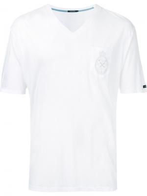 Футболка с нагрудным карманом Guild Prime. Цвет: белый