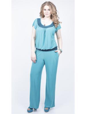 Блузка SPARADA. Цвет: бирюзовый