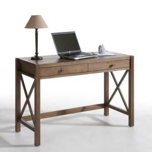 Стол письменный из массива сосны, окраска под тик Derry La Redoute Interieurs. Цвет: светлое дерево тик