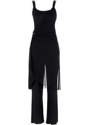 Вечерний костюм: топ + брюки (2 изд.) (черный) bonprix. Цвет: черный