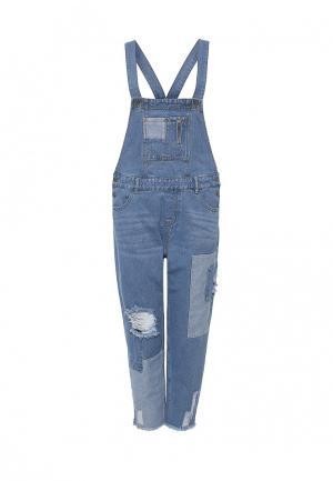 Комбинезон джинсовый Befree. Цвет: голубой