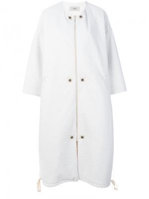 Пальто Pelle Humanoid. Цвет: белый