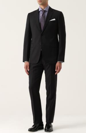 Шерстяной костюм с пиджаком на двух пуговицах Armani Collezioni. Цвет: бордовый