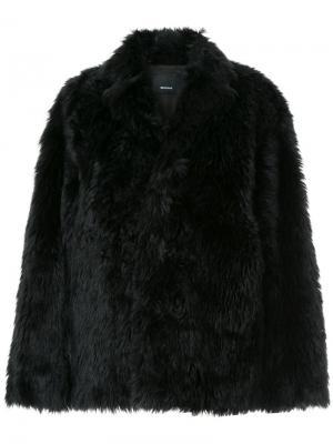 Объемная куртка из искусственного меха 08Sircus. Цвет: чёрный
