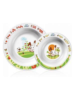 Набор детских тарелок Philips Avent SCF708/00, 2 шт., 6 мес.+. Цвет: прозрачный