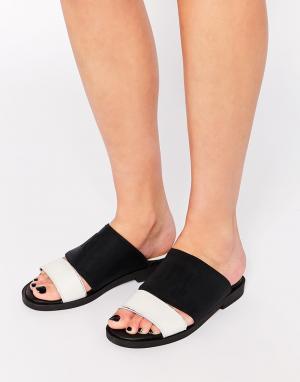 Miista Кожаные сандалии Kelly. Цвет: черный