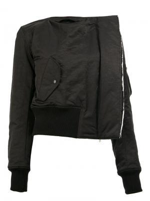 Куртка без воротника Yang Li. Цвет: чёрный