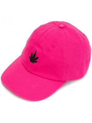 Кепка с принтом растения Palm Angels. Цвет: розовый и фиолетовый