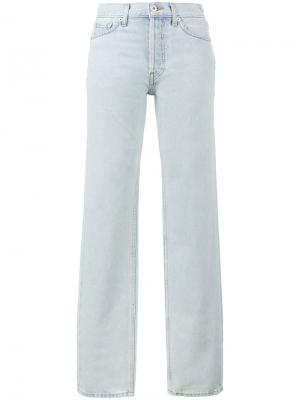 Прямые джинсы с классической талией Yeezy. Цвет: синий