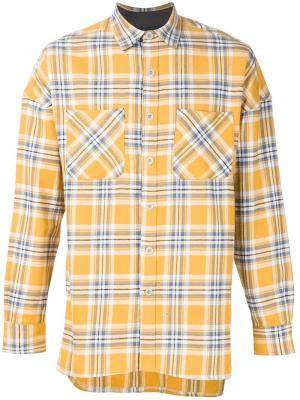 Check print shirt Fear Of God. Цвет: жёлтый и оранжевый