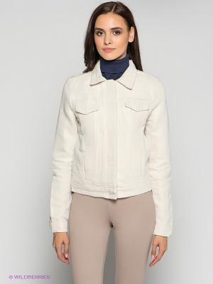 Куртка Calvin Klein. Цвет: светло-бежевый, золотистый