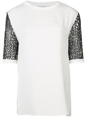 Блуза с контрастными рукавами Vionnet. Цвет: белый
