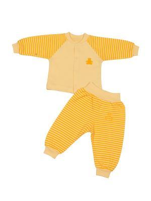 Комплект для малышей M-BABY. Цвет: желтый