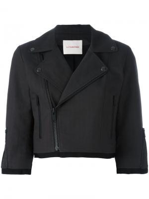 Укороченная байкерская куртка A.F.Vandevorst. Цвет: серый