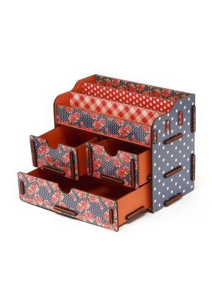 Органайзер для косметики и украшений 1 Homsu. Цвет: синий, оранжевый