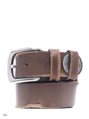 Ремень мужской Sevaro. Цвет: коричневый