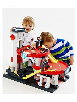 Большой гараж (развивающая игрушка) ELC. Цвет: красный