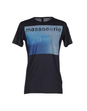 Футболка MESSAGERIE. Цвет: темно-синий