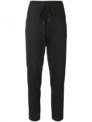 Спортивные брюки с поясом на завязке Cambio. Цвет: чёрный