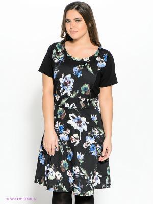 Платье Fiorella Rubino. Цвет: черный, синий, зеленый