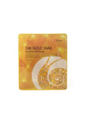 Маска для лица DIAPIA 24K GOLD SNAIL FIRMING GEL MASK, 1 шт. Цвет: желтый