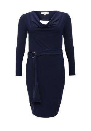 Платье LOST INK CURVE. Цвет: синий