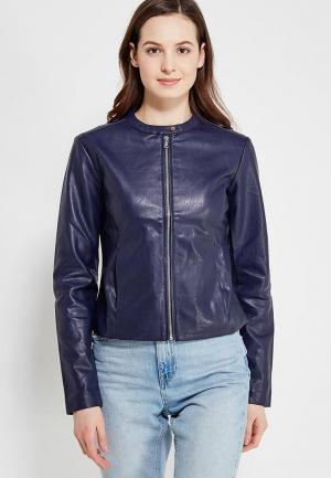 Куртка кожаная Modis. Цвет: синий